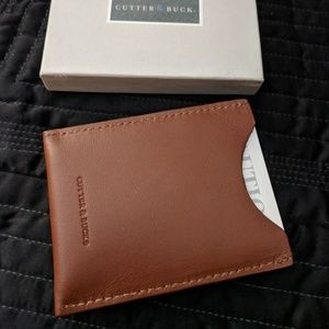 Cutter & Buck Cardholder, Money Clip. Leather.